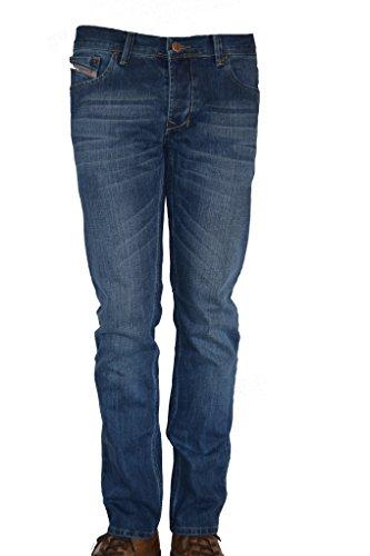 Lisdon Denim Herren Straight Fit Leg Jeans Hose (W36/L34)