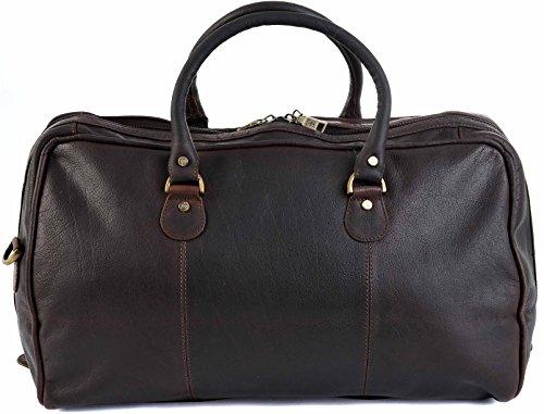 PRIMEHIDE Hohe Qualität Braunes Leder Reisetasche übernachten Wochenend tasche Bag 722