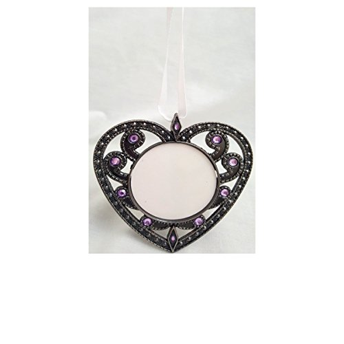 Avon Faux Gem Heart 3 in 1 Ornament Photo Frame Magnet ()