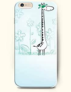 Case Cover For HTC One M7 Giraffe Surrounded by Flowers