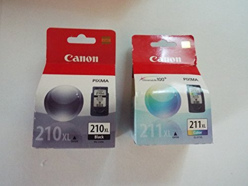 Canon PG-210XL /CL-211XL Color Ink Cartridge Combo Pack-Black (2, DESIGN 1)