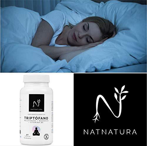 Suplemento alimenticio a base de Triptófano concentrado (600mg) para regular el sueño, estado de ánimo y ansiedad. 60 cápsulas vegetales.