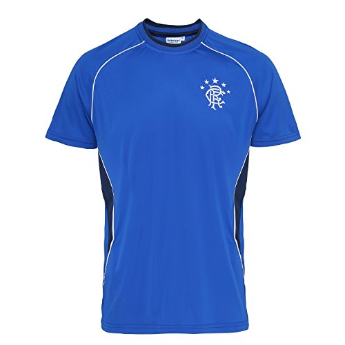 Official Soccer/Football Merchandise Rangers FC Adults Short Sleeve T-Shirt (M) (Royal Blue)