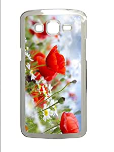 case Summer Flowers PC Transparent case/cover for Samsung Galaxy Grand 2/7106