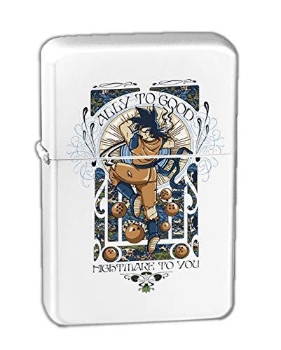 Hat Shark Ally to Good KGM Thunderbird Vintage Lighter - White Matte (Dragon Ball Z Zippo)