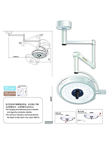 Minor Surgical Light - Rhegeneshop Brand New AC95-245V 110V Bright Mobile Ceiling Mounting Type height 2800-3100mm Minor Surgery Light Shadowless LED 363W Media Lamp Illumination 80000lx Technical Documentation