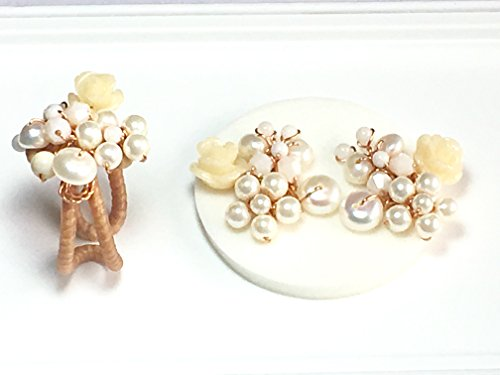 [Seven One-Bridal earrings-ring- pearl-chic jewellery-women gifts-wedding -stud earrings] (Postage Stamp Costume)