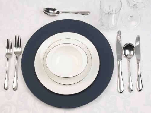 Spizy Denmark Dinner Charger Plates (Navy Blue (Quantity Of 12))