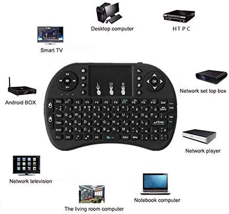 Calvas i8 Mini Wireless Keyboard Air Mouse with russian english spanish keyboard for android smart tv box H96 x96 max - Color: Russian Li-battery