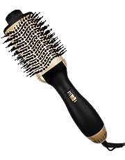 Hot Air Brush,Hair Dryer Brush,Professional Hair Dryer & Volumizer 4 in 1 Upgrade Negative Ion Technology Hair Straightener Brush,Hair Comb Styling Brush,Salon Negative Ion Ceramic Electric Blow Dryer