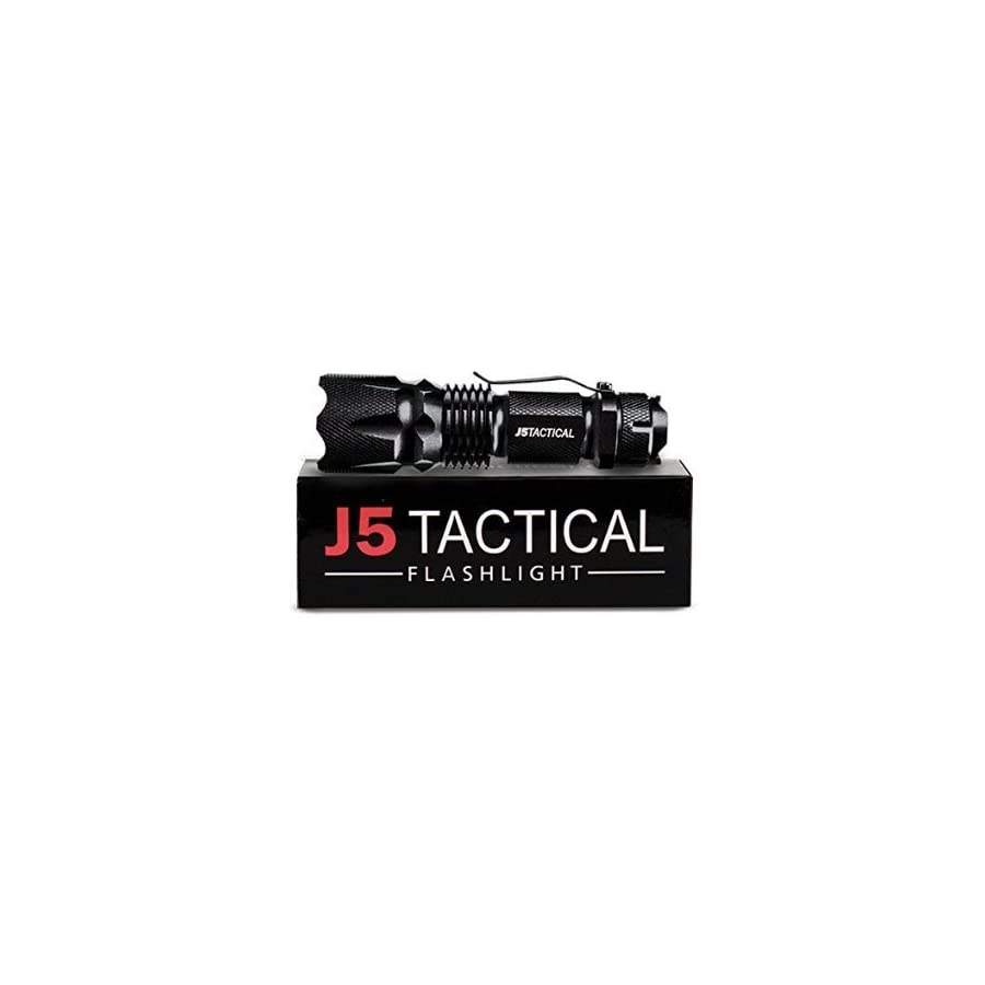 J5 Tactical V1 PRO Flashlight The Original 300 Lumen Ultra Bright, LED Mini 3 Mode Flashlight