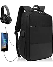 XQXA Laptop Backpack,Anti-Theft Business Travel Work Computer Rucksack with USB Charging Port,Water Resistant College/High School Bags for Boys/Girls/Men/Women,Fits 15.6 Inch Laptop and Notebook