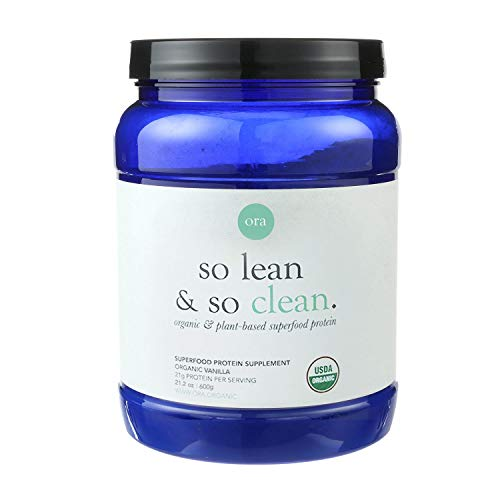 Ora Organic Vegan Protein Powder - Delicious Plant-Based Protein, 21g of Clean Lean Protein (20 Servings), Natural Vanilla Flavor & No Added Sugar, Gluten-Free, Dairy-Free, Soy-Free & Non-GMO