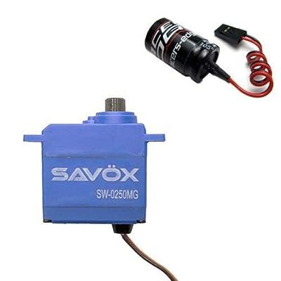 Savox SW0250MG Waterproof Digital Micro SERVO 0,11/69 6v W/Glitch Buster traxxas 1/16 Summit revo Slash: Toys & Games