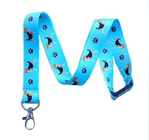 Beagle Dog Breed Print Break Away Lanyard Key Chain Id Badge Holder ()