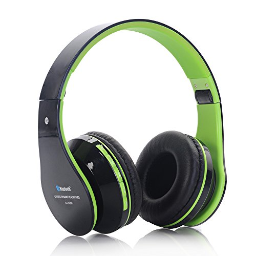 AITA BT809 Multifuntional FM Bluetooth Wireless Kopfhörer Over Ear Bluetooth Headset Headphones Mit MIC, TF Card Funktion (Green)