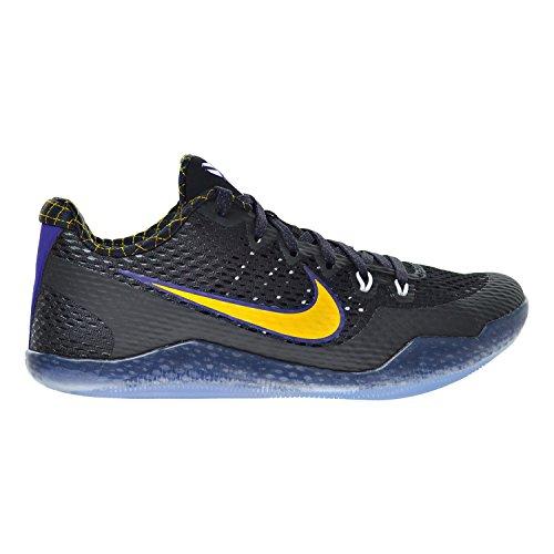 抗生物質タイピスト窓Nike Kobe XIメンズ靴ブラック/ホワイト/ Court Purple/University Gold 836183 – 015