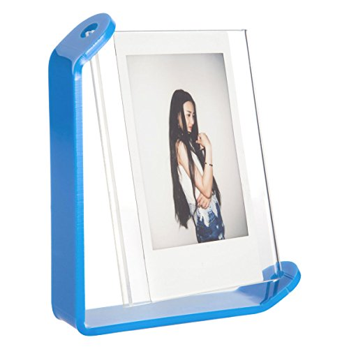 Woodmin Tabletop Spinning Acrylic Photo Frame for Fujifilm Instax SQUARE SQ10 Films (Blue)