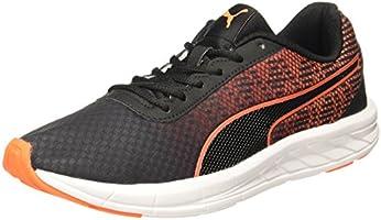 Puma Men's Meteor 2 Puma Blackshocking Orange Running Shoes - 9 UK/India (43 EU) (36476306)