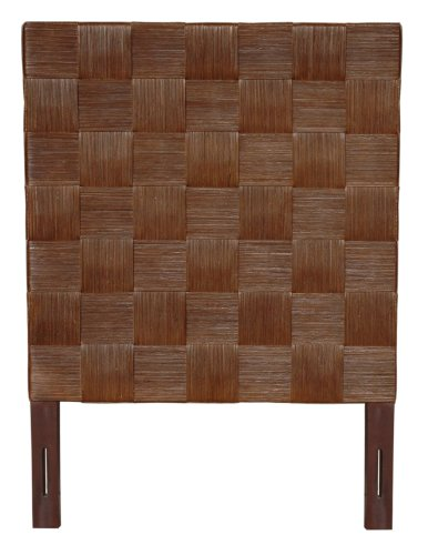 Jeffan International Square Headboard, Twin, Dark Brown by Jeffan International