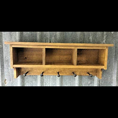 Reclaimed Shelf Cubby Coat Rack