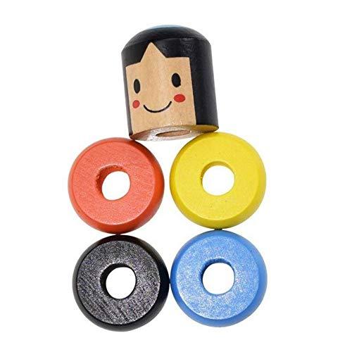 Volwco 4Pcs Immortal Daruma Magic Trick, Wooden Doll Man Magic Toy Stage Magic Props, Funny Wooden Magic Toy for Kids