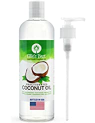 Fractionated Coconut Oil - Pure USA Expeller Cold Pressed & Hexane Free - Best Therapeutic Grade Carrier Oil for Essential Oils Aromatherapy & Massage - Food Grade MCT (16 oz)