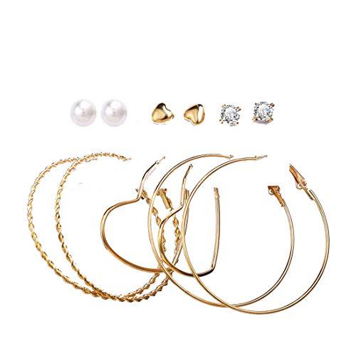 Jewels Galaxy Brass No Metal Pearl Earrings For Women