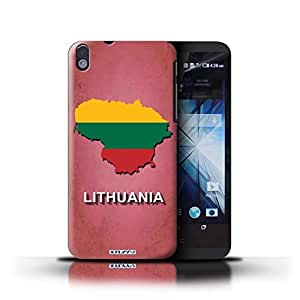 KOBALT? Protective Hard Back Phone Case / Cover for HTC Desire 816 | Lithuania/Lithuanian Design | Flag Nations Collection