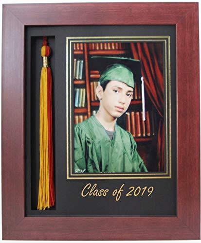 (3art Graduation Tassel 5x7 Picture Frame Mahogany 2019 (Customizable))