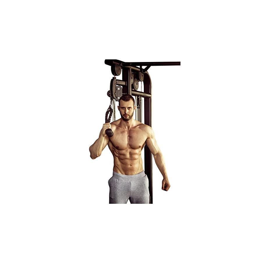 Evelots Tricep V Shaped Press Down Bar/Closed Handle Attachments