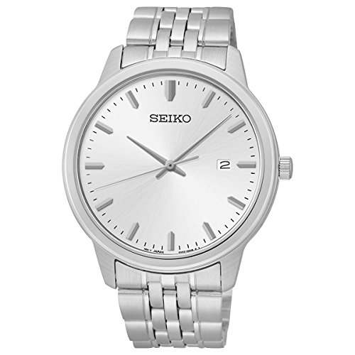Seiko-Mens-SUR091-Analog-Japanese-Quartz-Silver-Tone-Dial-Stainless-Steel-Watch