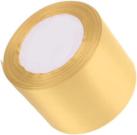 多色選べ サテン サテンリボン ギフトパッキング ウェディング 結婚式 パーティー デコレーション  - ゴールド