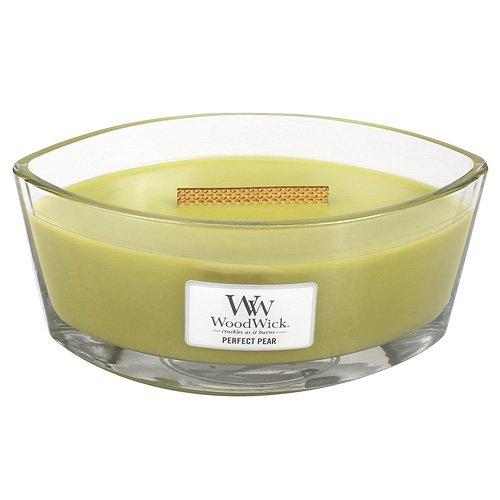Woodwick 76187 Bougie la Poire Parfaite Verre Vert 11.2 x 18.9 x 8.cm