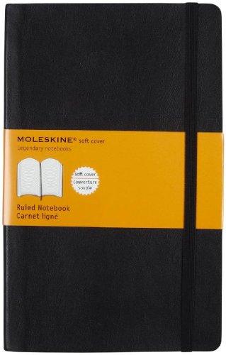Moleskine Soft Cover Large Ruled Black Notebook (5 x 8.25) by Moleskine