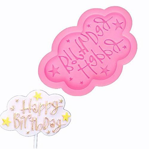 JiChuio Buon Compleanno Decorazioni Plug-in del Cioccolato Stampo in Silicone Rosa Decorativi Cottura
