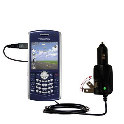 Unique Gomadic Car and Wall AC/DC Charger designed for the Blackberry 8110 8120 8130 - Two Critical Functions, One Great Charger (includes Gomadic - 8120 Car Charger