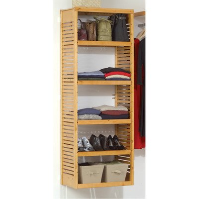 Deluxe Wood Closet System (John Louis Home JLH-610 Deluxe Stand Alone Tower, Honey Maple)