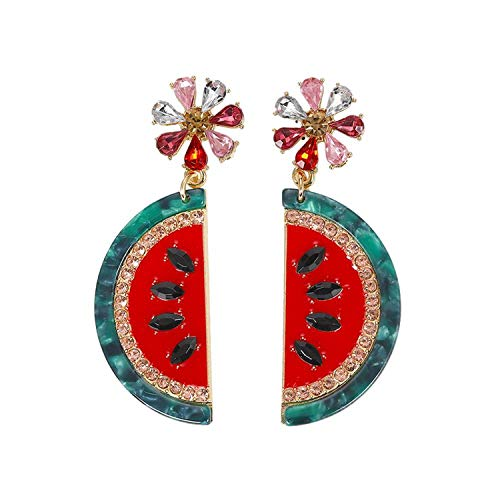 Maxi Crystal Fruit Drop Dangle Earrings Handmade Oorbellen Pendiestes Female Wedding Party Gifts Brinco Wholesale Xg2866,1