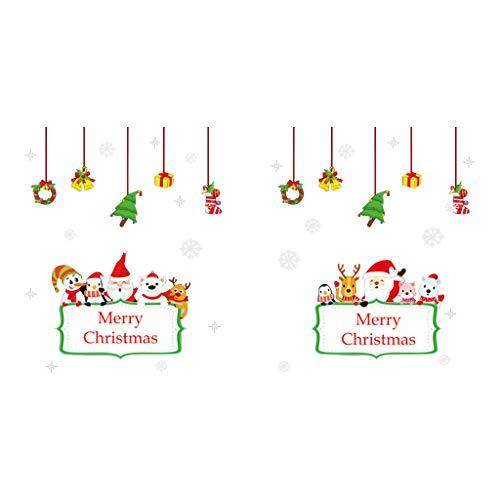 YWLINK DecoracióN De Navidad DIY Etiqueta De La Pared De Navidad ...