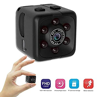 Mini Spy Camera - Tiny Hidden Camera - Nanny Cam, Cop Cam, Body Cam - 1 Cubic Inch 1080p Hd Wide Angle Home Security Camera With Motion Detection And Night Vision by JöT