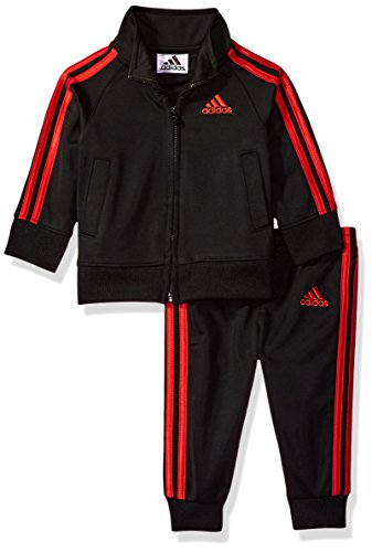 adidas Baby Boys Jacket Set, Black/Red, 18M