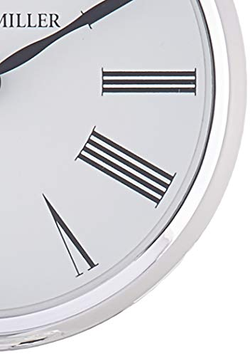 Howard Miller Clifton Table Clock 645-641 – Modern Glass with Quartz Movement - TABLE CLOCK: The Clifton Table Clock is a glass and metal carriage clock with a .375 inch thick beveled glass panel to compliment your home decor. The clock's quartz movement makes a soft ticking noise without the use of chimes for a quieter environment. DURABLE: This indoor modern clock is created to last. It has a sturdy frame to relieve stress in a busy household. Place it in your kitchen, office, bathroom, bedroom, living room, and more. A felt bottom will protect your tabletop or desk. HIGH QUALITY: The design is a home essential with a brushed aluminum top and base with polished edges. Easily tell time with black Roman numerals behind glass, polished chrome-finished bezel, black hands, and silver seconds hand to stand out over a white dial. - clocks, bedroom-decor, bedroom - 419LvinR3CL -