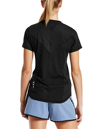 Mission-Womens-VaporActive-Stratus-Short-Sleeve-Running-T-Shirt-Moonless-Night-Small