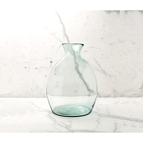 Eco-Friendly Home Decor - Hand Blown Recycled Glass Vase