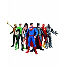 Dc Comics We Can Be Heroes Justice League 7-Pack /Set Action Figures Toys, Superman, Batman, Wonder Woman, Green Lantern, The Flash, Aquaman, and Cyborg