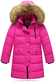 Seeduck Big Girls' Winter Parka Down Coat Puffer Jacket Padded with Fur
