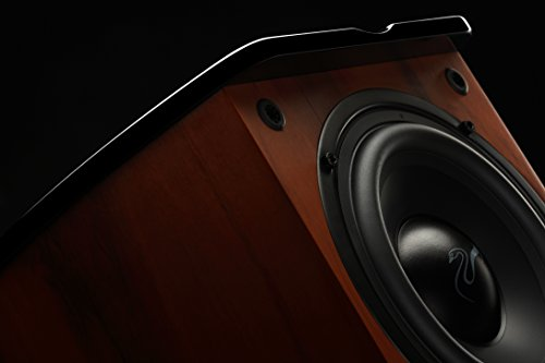 Swan Speakers - M20W - Beautiful Powered 2.1 Living Room Laptop Speakers -  6'' Subwoofer - Rosewood with Pink Gold Aluminium Drivers and Piano Finish - 50W RMS Internal Amplifier by Swan Speakers (Image #2)