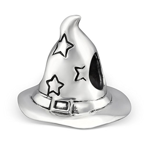 Best Wing Jewelry .925 Sterling Silver Wizard Hat Charm Bead ()