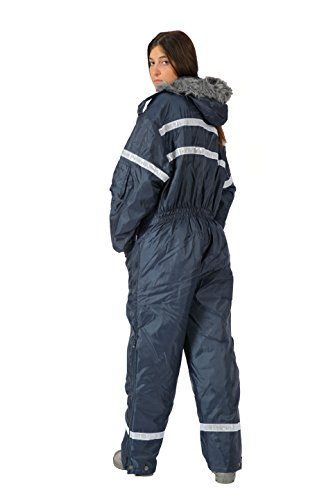 HAGOR Unisex Navy Blue Snowsuit Winter Clothing Snow Ski Suit Coverall  Insulated Suit with Reflector 51b11dd57